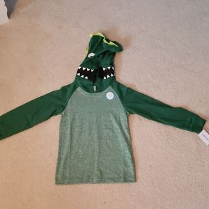 Carter's Toddler Boy 5T Dino Hoodie Shirt NWT
